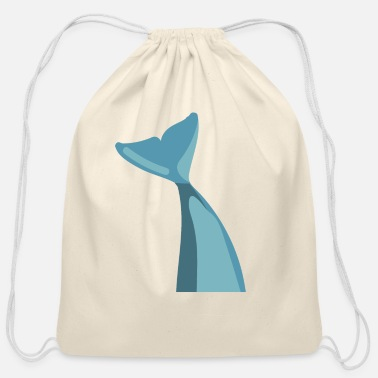 Large Flying Whale Sperm - Cotton Drawstring Bag