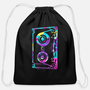 Cassette Vintage Retro Music Cassette Tape Mixtape I Love T - Cotton Drawstring Bag