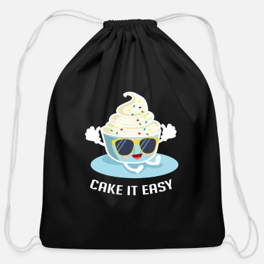 Restaurant Cake It Easy Foodie And Sweet Lover Gift - Cotton Drawstring Bag