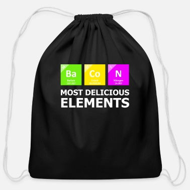 Periodic Table Bacon Most Delicious Elements - Cotton Drawstring Bag