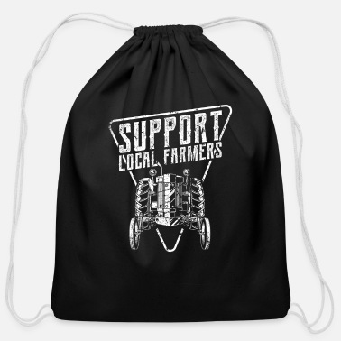 Farmer Funny Gift Farmer Chicken Farm Shirt - Cotton Drawstring Bag
