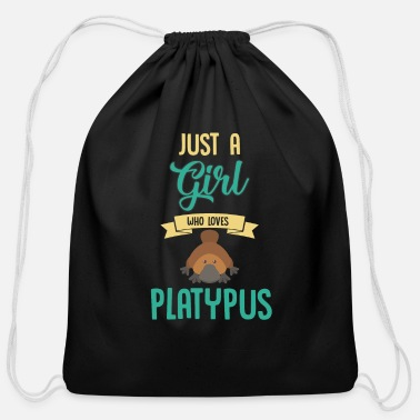 Beak Just A Girl Who Loves Platypus Zoology Mammal Love - Cotton Drawstring Bag
