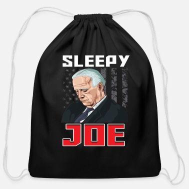 Wait Sleepy Joe Biden Presidential Campaign Parody - Cotton Drawstring Bag