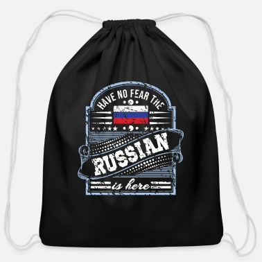 Fps Russia Russia T Shirt - Have No Fear The Russian Is Here - Cotton Drawstring Bag