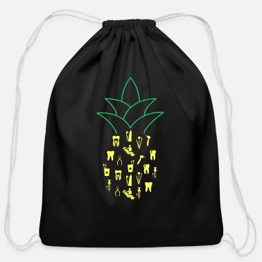 Dentist Pineapple Dentistry Dental Hygienist Gift - Cotton Drawstring Bag