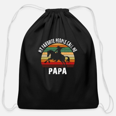 My Favorite people call me PAPA - Cotton Drawstring Bag