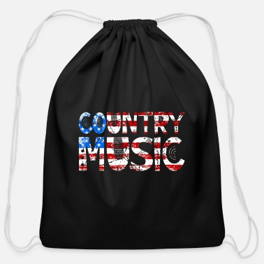 Countrymusic Country Music Retro Vintage Guitar - Cotton Drawstring Bag