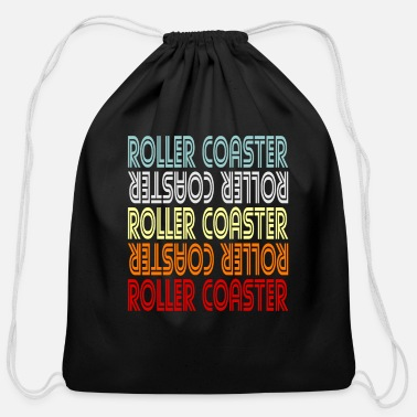 Drop Roller Coaster Ride Fun Gift Idea - Cotton Drawstring Bag