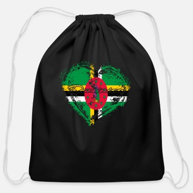 HOME ROOTS COUNTRY GIFT LOVE Dominica - Cotton Drawstring Bag