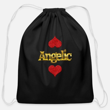 Angel Angelic - Cotton Drawstring Bag