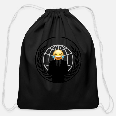 Emo Smiley Emo - Cotton Drawstring Bag