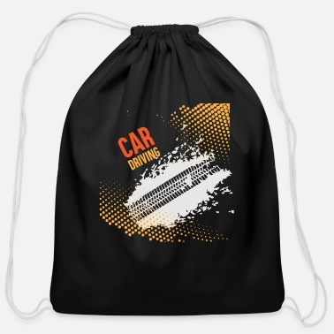 Drive Go By Car GIFT - CAR DRIVING - Cotton Drawstring Bag
