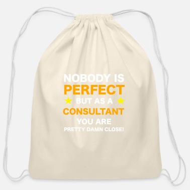 Workaholic Consultant - Cotton Drawstring Bag