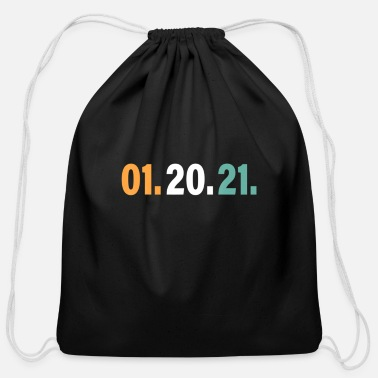 Nightmare 01 20 21 January 20th 2021 Tee, Nightmare Ends - Cotton Drawstring Bag