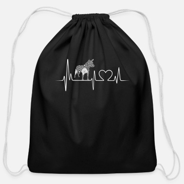 Heeler Heeler Heartbeat Shirt - Cotton Drawstring Bag