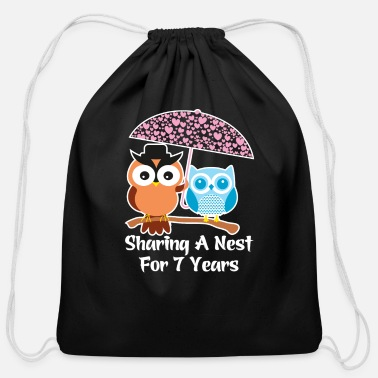 Wedding Year Anniversary Presents 7 Years Wedding Anniversary Gifts Valentine Day - Cotton Drawstring Bag