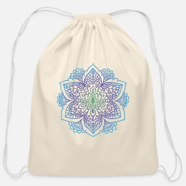 Graffiti Mandala art drawing for gift - Cotton Drawstring Bag