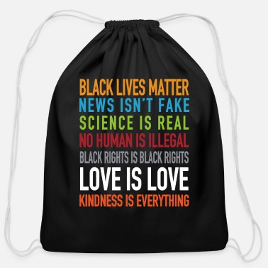 Real Black lives matter love is love - Cotton Drawstring Bag