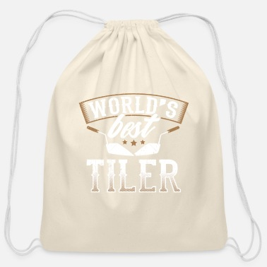 Bathroom Perfect Tiler Design Quote World's Best - Cotton Drawstring Bag
