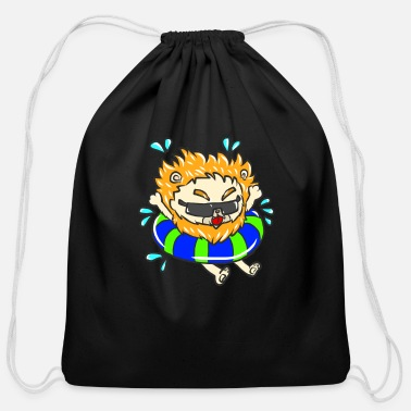 South Summer Warm Tropical Sunny Beach Vacation Bathing - Cotton Drawstring Bag