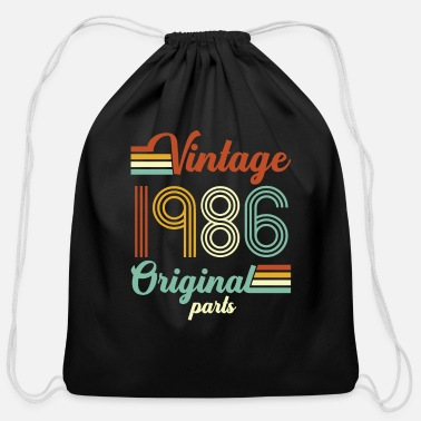 Age Vintage 1986 Original - Cotton Drawstring Bag