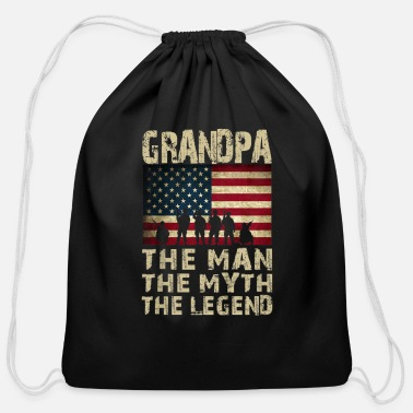 Father s Day Grandpa The Man Myth Legend - Cotton Drawstring Bag