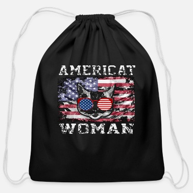 July Fourth Fourth of July, Fourth of July - Cotton Drawstring Bag