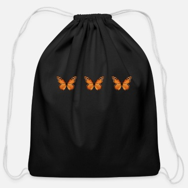 Aesthetic Aesthetic Monarch Butterfly Soft Grunge - Cotton Drawstring Bag