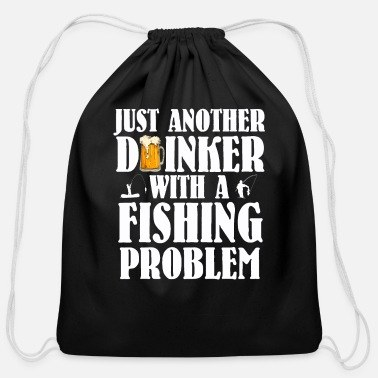 Just Fisher Just another Drinker Fishing License Gift - Cotton Drawstring Bag