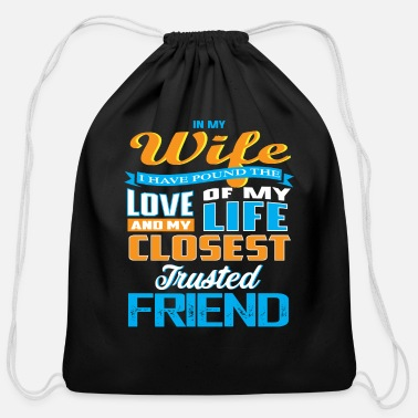 Husband best gift for husbands - Cotton Drawstring Bag