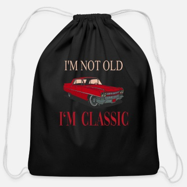 Husband Funny Old Classic Car - Cotton Drawstring Bag
