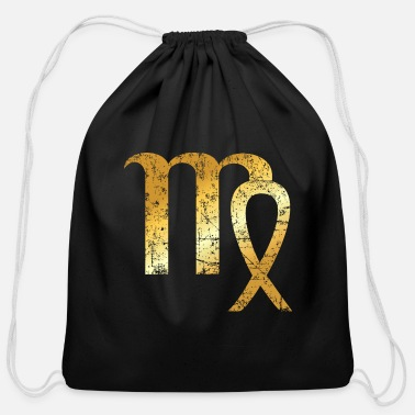 Zodiac Zodiac Sign Virgo – The Sign of Virgo - Cotton Drawstring Bag