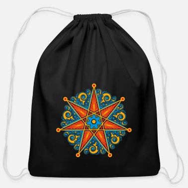 Faery Magical Power Elven Star, Perfection & Protection, Fairy, Magic - Cotton Drawstring Bag