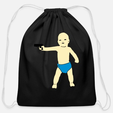 Witty baby (x) - Cotton Drawstring Bag