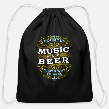 Music Beer Love Country Music Gift - Cotton Drawstring Bag