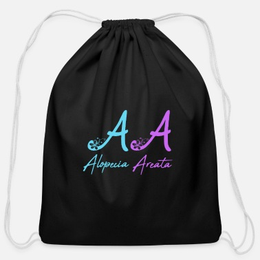 Alopecia Areata AA Alopecia Areata - Cotton Drawstring Bag