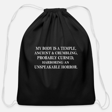 Kabul MY BODY IS A TEMPLE - Cotton Drawstring Bag