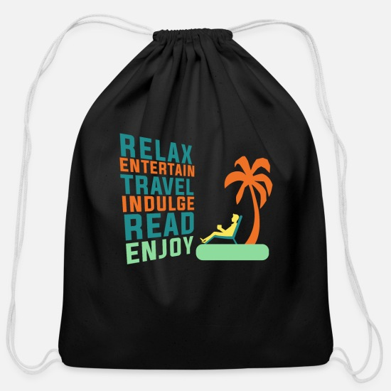 Retirement Bags & backpacks - Classic Retirement Retire Retired Relax - Cotton Drawstring Bag black