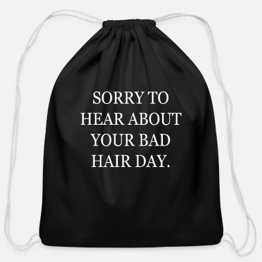 Alopecia Areata Sorrytohearboutyourbadhairday Alopecia Areata Bald - Cotton Drawstring Bag