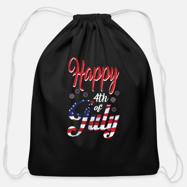 Th Of July $th of July Happy - Cotton Drawstring Bag