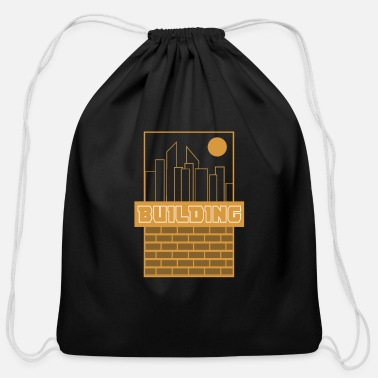 Building Building - Cotton Drawstring Bag