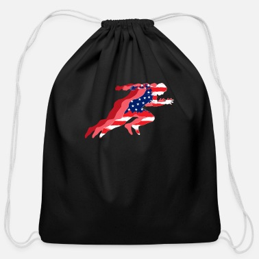 Field TRACK & FIELD: Track and Field US Flag - Cotton Drawstring Bag