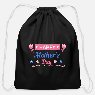 Motherhood Happy Mother's Day - Cotton Drawstring Bag