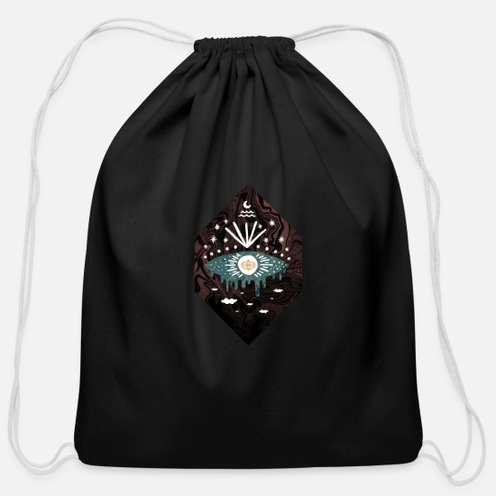 Amazing Bags & Backpacks - Oversight - Cotton Drawstring Bag black