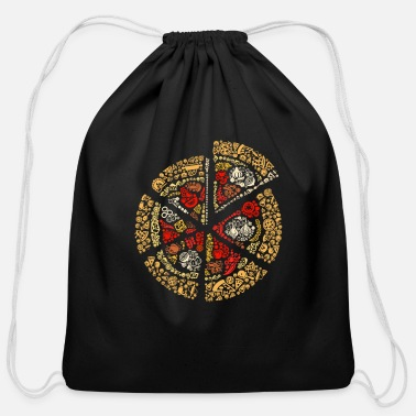 Salami Pizza Salami Peperoni Pizza Salami and Fast food - Cotton Drawstring Bag