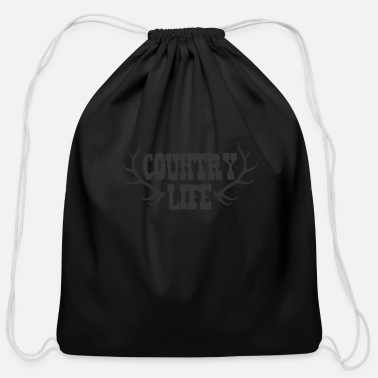 Country Life Country Life with Deer Antlers - Cotton Drawstring Bag