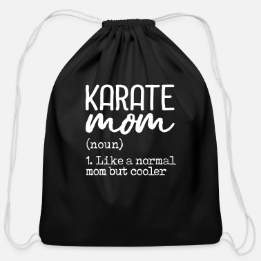 Modernist Karate Mom Definition - Cotton Drawstring Bag