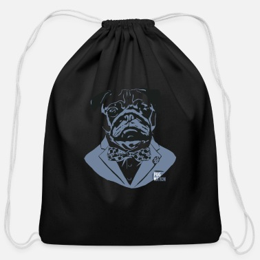 Tux Pug Nation Tux Dog - Cotton Drawstring Bag