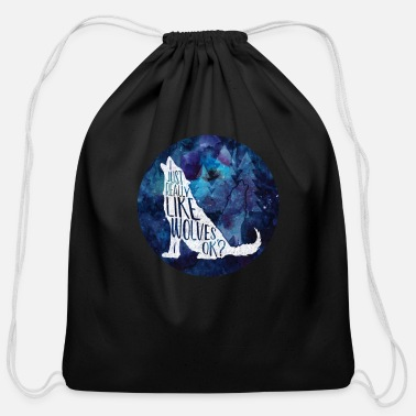 Galaxy Galaxy Wolf Funny Wolf Gift I Just Really Like - Cotton Drawstring Bag