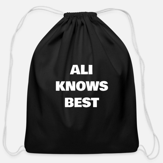 Ali Bags & backpacks - Ali Knows Best - Cotton Drawstring Bag black